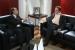 Corregedor Cleones Cunha e o promotor Fernando Barreto, durante reunião em outubro deste ano.