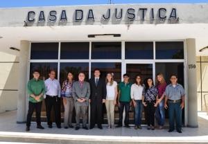 Corregedor, juiz e servidores da Comarca de São Raimundo das Mangabeiras