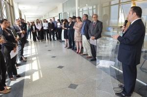 O corregedor-geral da Justiça, Cleones Cunha, presidiu o ato de instalação. (Foto: Ribamar Pinheiro)