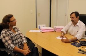 Juiz Alexandre Abreu definiu termos de convênio com a diretora de ensino da FAP, Nony Braga