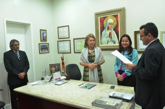 A magistrada foi empossada pela presidente do TJMA, desembargadora Cleonice Freire (Foto;Ribamar Pinheiro)