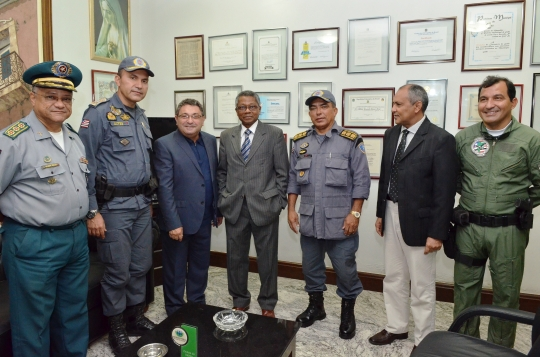 Durante a visita, o decano da Corte estadual de Justi�a destacou a import�ncia da PMMA (Foto:Ribmar Pinheiro)