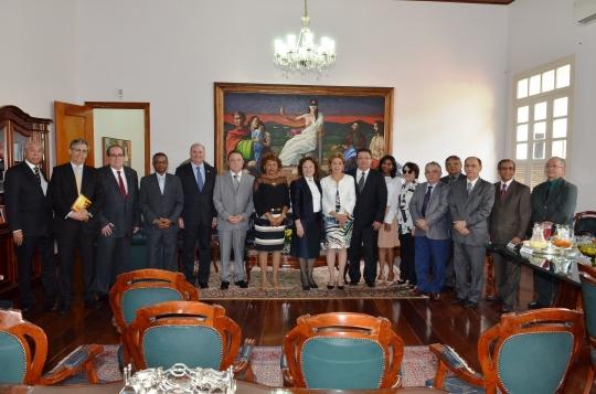A ministra foi recebida pela presidente do TJMA, desembargadora Cleonice Freire (Foto:Ribamar Pinheiro)