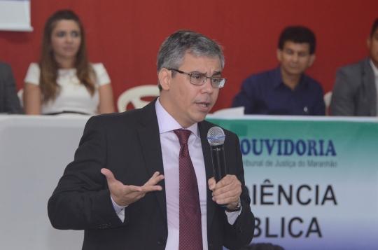 O ouvidor judici�rio, desembargador Paulo Velten, coordenar� a audi�ncia p�blica em S�o Jo�o dos Patos (Ribamar Pinheiro)