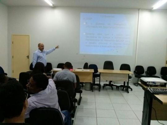 Willame Pinto em um dos cursos VEP/CNJ j� realizados.