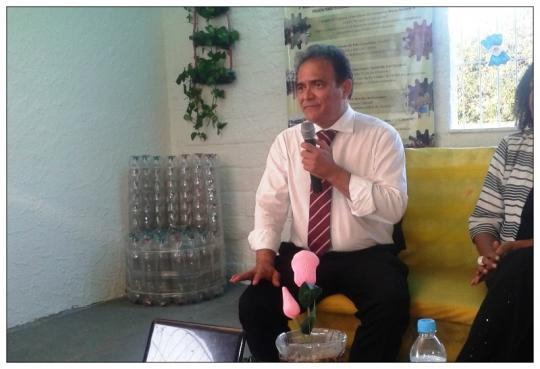 Juiz Fernando Mendon�a, durante palestra sobre ressocializa��o