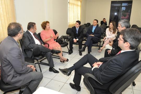 Na reuni�o, foram discutidas melhorias para presta��o jurisdicional (Foto: Ribamar Pinheiro)
