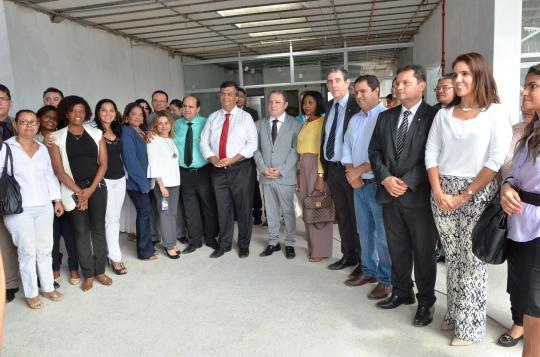 Na visita, foram apresentados os detalhes da obra (Foto: Ribamar Pinheiro)