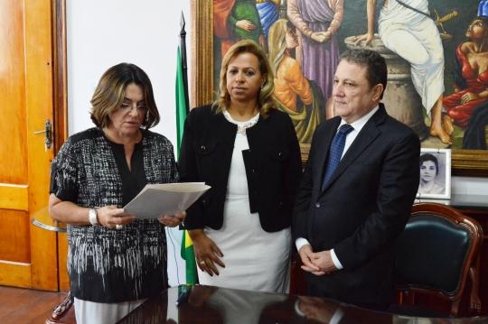 A posse ocorreu no Gabinete da Presid�ncia do TJMA