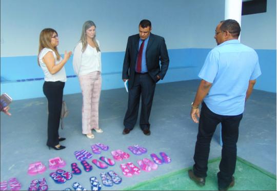 Juíza Rosângela Prazeres conheceu o trabalho desenvolvido pela APAC Pedreiras.
