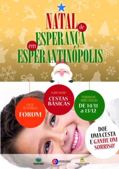 Campanha Natal Esperantinópolis. (Créditos: Asscom TJMA).