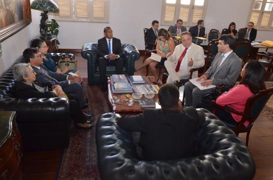 Na reunião, foi discutida questões relativas à prestação jurisdicional em Barreirinhas (Foto: Ribamar Pinheiro)