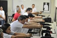 Juízes recebem treinamento em tiro defensivo (Fotos: Ribamar Pinheiro)