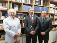 Des Paulo Velten (diretor da Esmam) conversou com dirigentes da FGV (Direito Rio) sobre parcerias entre as instituições