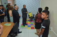 Autoridades participam da inauguração da sala de depoimento especial de Cururupu (Foto: Ribamar Pinheiro)