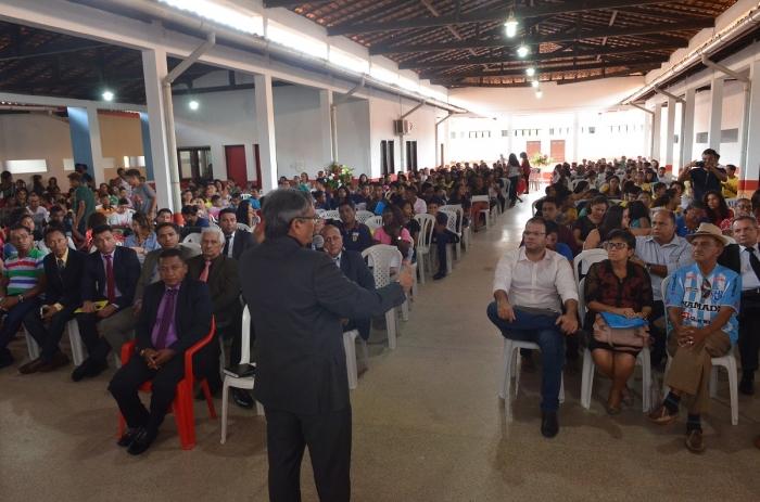 O presidente da Coordenadoria da Infância e Juventude do TJMA, Des. José de Ribamar Castro, realizou a abertura da audiência pública. (Foto: Ribamar Pinheiro)
