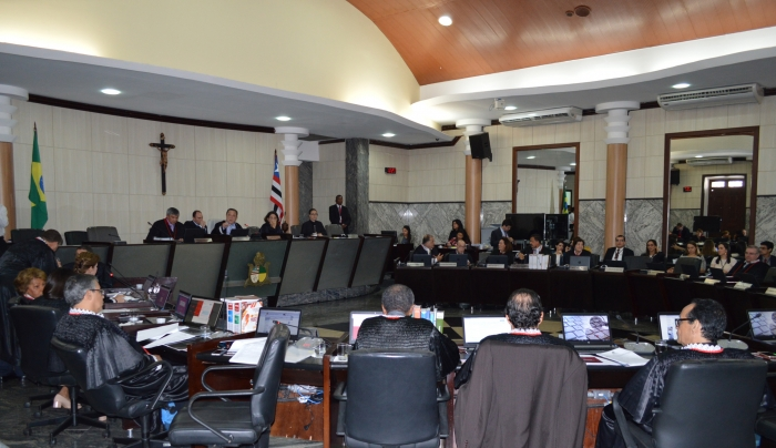 A medida cautelar requerida pela OAB/MA foi indeferida pelo Pleno, nesta quarta (29). (Foto: Asscom/TJMA)