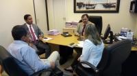 O assunto foi discutido nessa quarta-feira (19), entre o juiz Alexandre Abreu (Coordenador do Núcleo) e representantes da Vale.