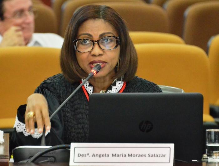 A desembargadora Angela Salazar foi a relatora do processo (Foto: Ribamar Pinheiro)