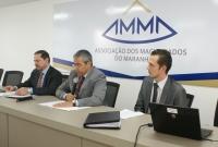 A formação foi aberta pelo diretor da Esmam desembargador Paulo Velten, no auditório da AMMA