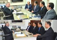 Os dirigentes garantiram apoio para a criação do Observatório de Direitos Humanos