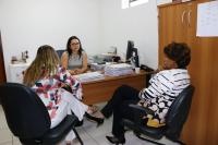 Em Urbano Santos a corregedora foi recebida pela juíza Cintia Facundo.