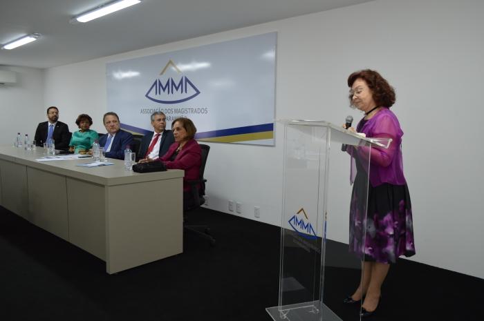 A aula inaugural foi proferida pela ministra Nancy Andrighi no auditório da AMMA (Foto: Orquídea Santos)