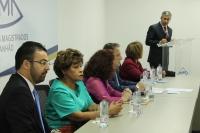 Desembargador Paulo Velten, diretor da ESMAM dá as boas vindas aos participantes da aula inaugural (Foto: Marcelo Cardoso)