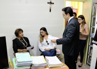 A corregedora Anildes Cruz esteve em Barreirinhas no último dia 11, e conheceu a realidade da comarca.