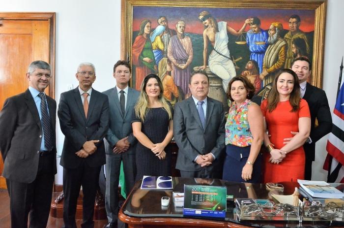 Juízes de entrância intermediária e inicial tomam posse em suas novas unidades judiciais. Foto: Ribamar Pinheiro/ Asscom TJMA