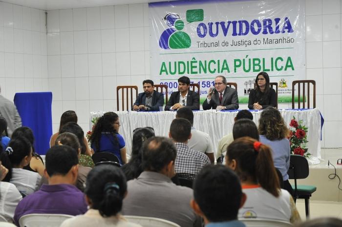 Audiência pública foi conduzida pelo ouvidor-geral do Poder Judiciário, desembargador Ricardo Duailibe (Foto; Ribamar Pinheiro)