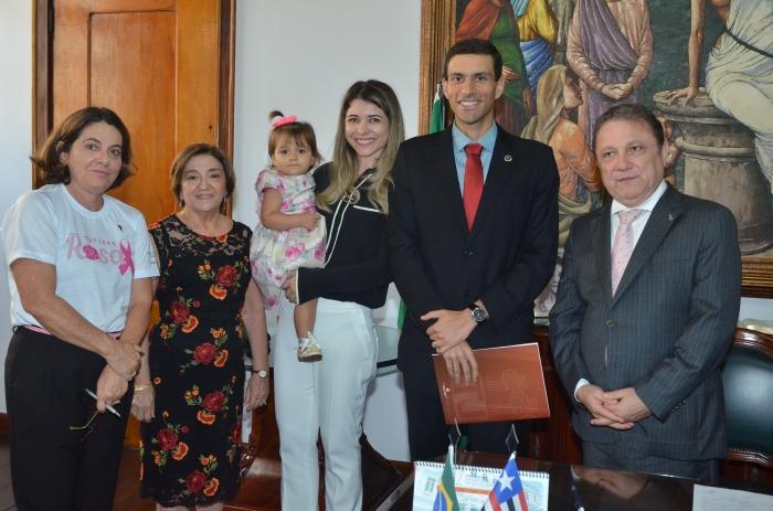 A posse ocorreu no gabinete da Presidência do TJMA (Foto: Ribamar Pinheiro)