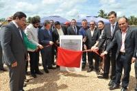 A Pedra Fundamental foi lançada nesta terça-feira pelo presidente do TJMA, na presença de autoridades locais (Foto: Ribamar Pinheiro)