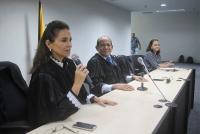 A Juíza Joseane Bezerra, titular da 3ª Vara da Família, presidiu a cerimônia.