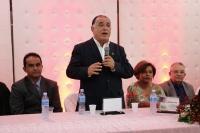 Desembargador Jorge Rachid durante discurso.