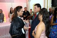 Juíza Joseane Bezerra celebra união de casal durante casamento em Pedreiras.