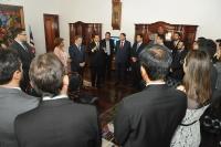 Presidente eleito falou aos juízes titularizados. (Foto: Ribamar Pinheiro)