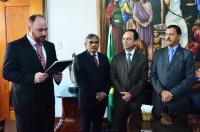A cerimônia de posse ocorreu no Gabinete da Presidência (Foto: Ribamar Pinheiro)