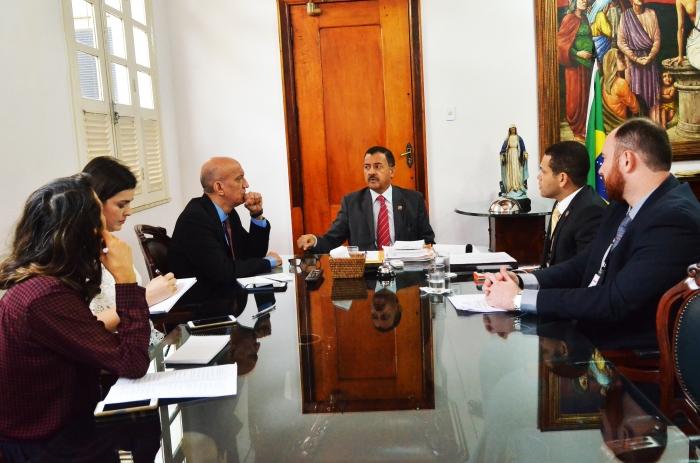 A reunião ocorreu no gabinete da Presidência do TJMA (Foto: Ribmar Pinheiro)