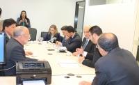 Corregedor reuniu-se com a Diretoria da Associação dos Magistrados (AMMA). (Foto: Josy Lord).