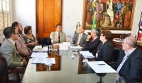 Ações foram apresentadas em reunião realizada no gabinete da Presidência do TJMA (Foto: Ribamar Pinheiro)