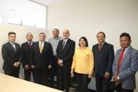 Magistrados durante a solenidade de posse do novo coordenador da SEJUD.