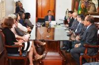 O Termo de Cooperação Técnica assinado entre o Tribunal de Justiça e a Secretaria Estadual de Segurança Pública (Foto: Ribamar Pinheiro)).