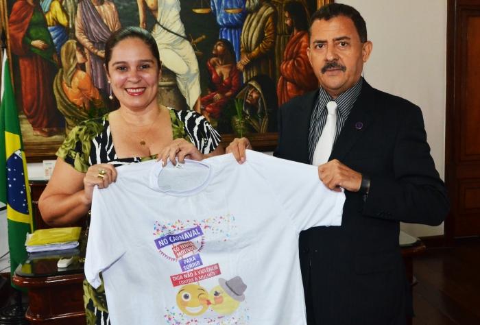 O presidente do TJMA está apoiando a campanha contra a violência (Foto: Ribamar Pinheiro)
