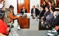 Presidente José Joaquim Figueiredo comprometeu-se a avaliar os pleitos da OAB/MA. (Foto: Ribamar Pinheiro/TJMA)