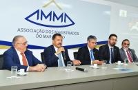 O presidente do TJMA, desembargador Jose Joaquim Figueiredo dos Anjos, participou da abertura do ano letivo da ESMAM (Foto: Ribamar Pinheiro)