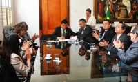 O ato de assinatura foi acompanhado por magistrados do TJMA