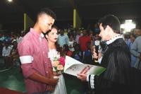 O casal mais novo teve a união celebrada pelo juiz Jorge Antonio Leite (Bacabal).