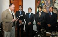 A posse aconteceu no Gabinete da Presidência do TJMA (Foto: Ribamar Pinheiro)