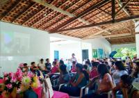 Ação Socioeducativa em escolha pública de Chapadinha realizada pela juíza Welinne Coelho.